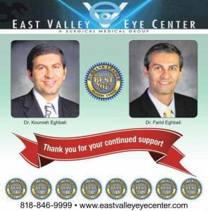 Eye doctors Kourosh and Farid Eghbali at EVEC Best of Burbank ophthalmologist 2017