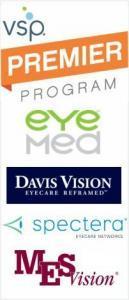 Burbank insurance VSP, Eye Med, MESVision, Davis, Spectera