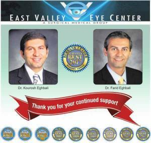 thank you for voting us Best Ophthalmologist in Burbank